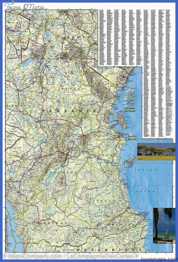 map tanzanie rwanda burundi 9781566956192 3 Rwanda Map Tourist Attractions