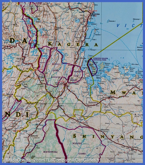 map tanzanie rwanda burundi 9781566956192 5 Rwanda Map Tourist Attractions
