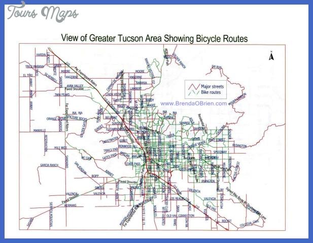 map tucson bike trails Tucson Map