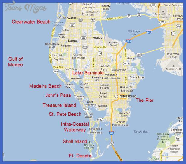 map Tampa St. Petersburg Map