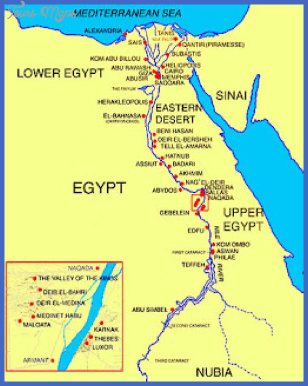 map11 Egypt Map Tourist Attractions