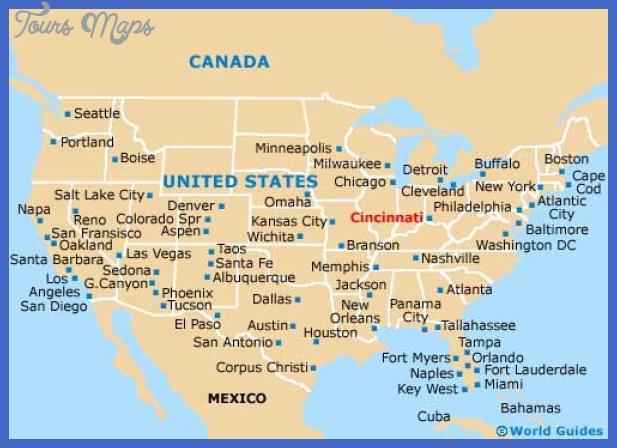 map1 cincinnati Cincinnati Map