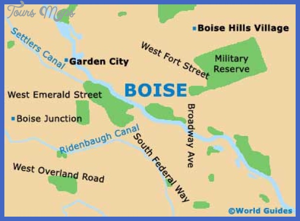 map2 boise Boise City Map