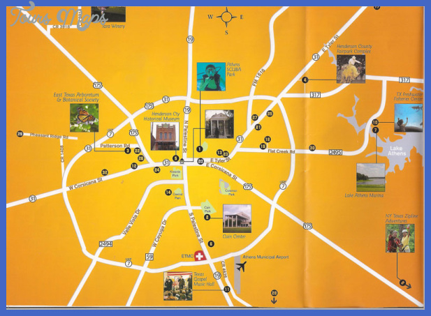 Athens Map Tourist Attractions ToursMapsCom – Athens Tourist Attractions Map
