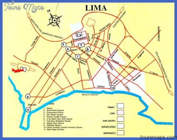 Lima Map  Map  Travel  Holiday  Vacations