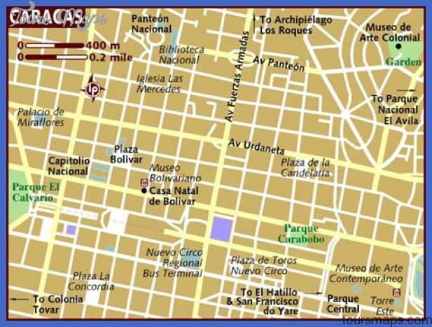 map of caracas Venezuela Map Tourist Attractions
