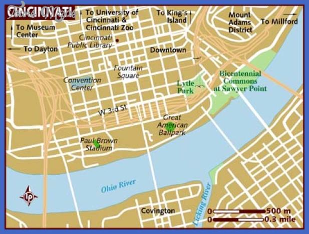 map of cincinnati Cincinnati Map