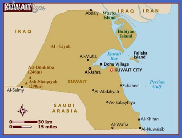 map of kuwait Kuwait Map