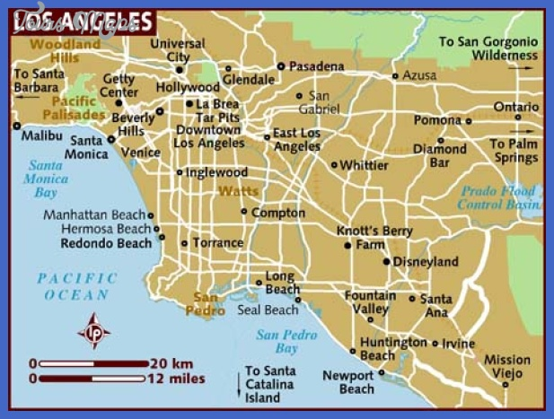 map of los angeles Los Angeles Map