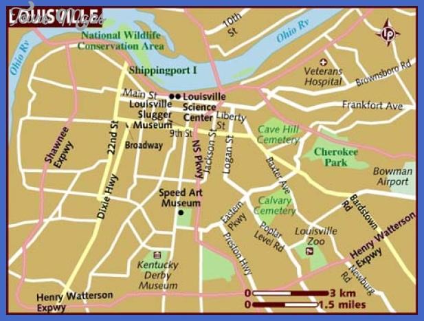 map of louisville Loiseville Map