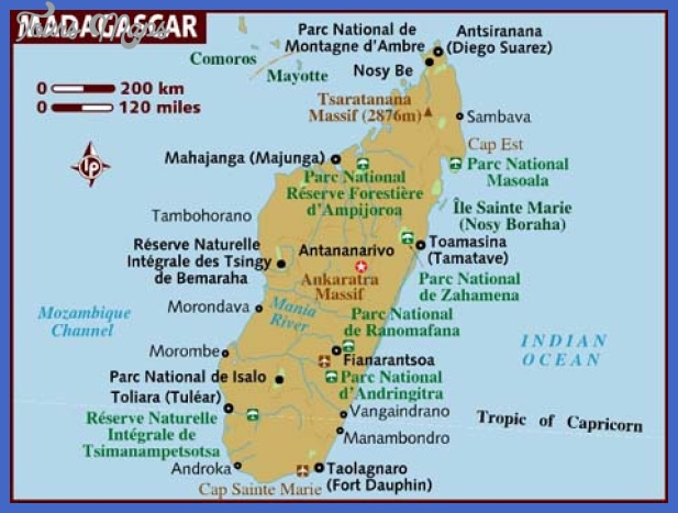 Madagascar Map Tourist Attractions ToursMapscom