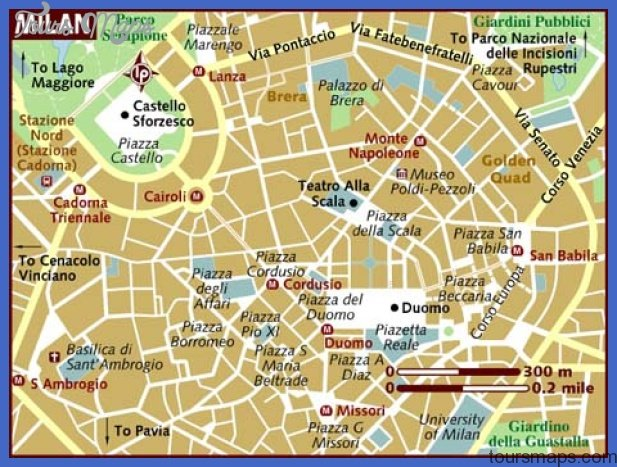 map of milan Milan Map Tourist Attractions