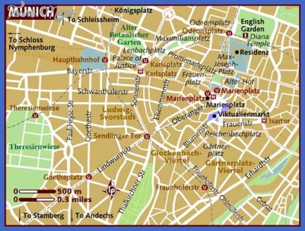 map of munich Munich Map Tourist Attractions