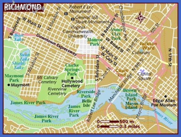 map of richmond Richmond Map