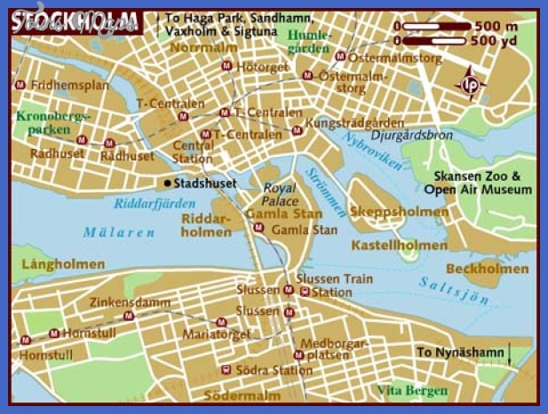 Sweden Map Tourist Attractions ToursMapsCom – Sweden Tourist Attractions Map