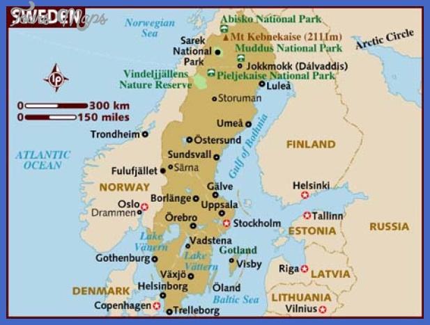 map of sweden Sweden Map