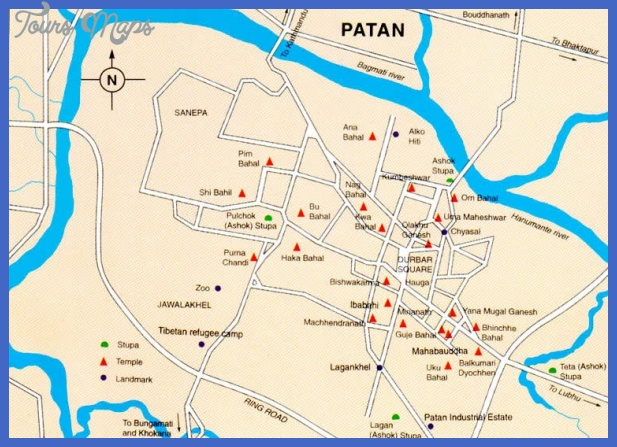 map patan Nepal Map Tourist Attractions