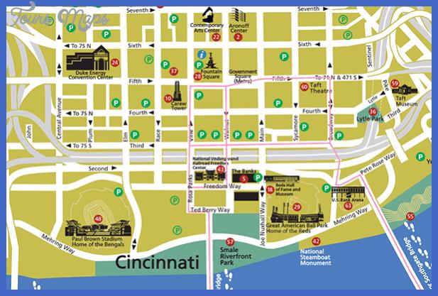 map pdf downtown Cincinnati Map Tourist Attractions