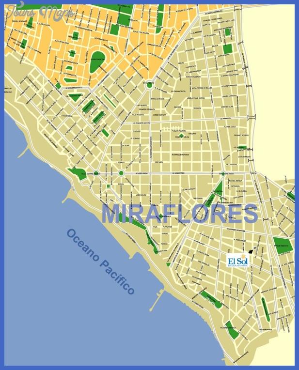 map san isidro miraflores Lima Map