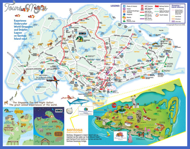 map small singapore Singapore Map Tourist Attractions