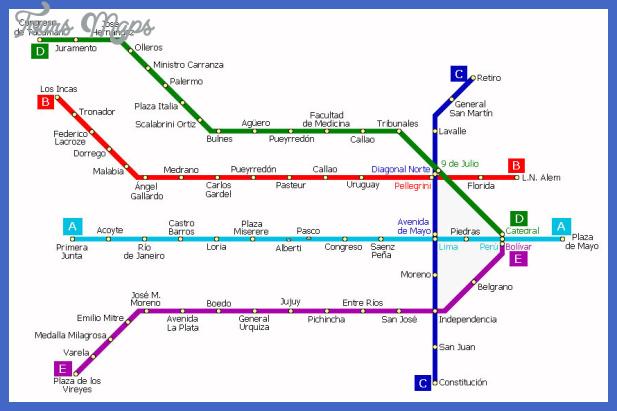 mapa metro bsas Buenos Aires Subway Map