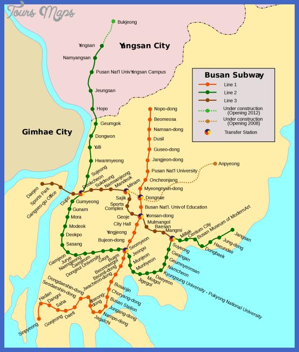 mapa metro busan Korea, North Subway Map