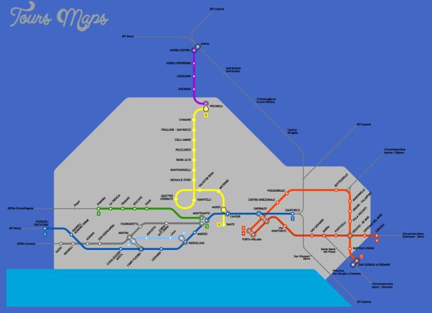 mapa metro napoles Naples Subway Map