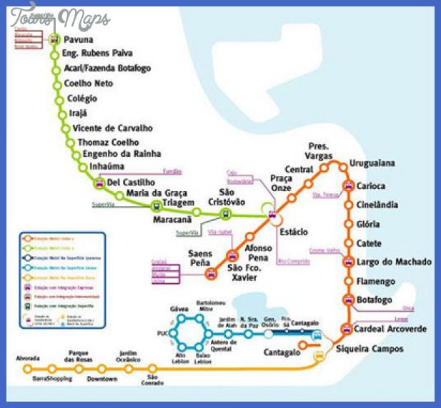 mapa metro rio de janeiro Rio de Janeiro Metro Map