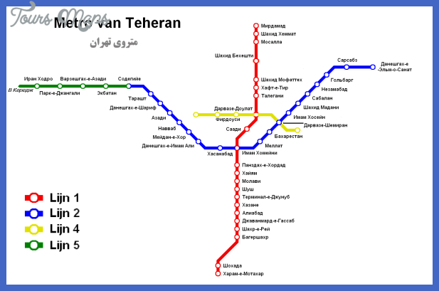 Tehran Subway Map.Tehran Metro Map Toursmaps Com