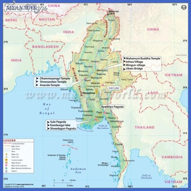mapa myanmar 500x500 Burma Map
