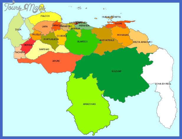 mapa politico de venezuela ejemplos Venezuela Metro Map