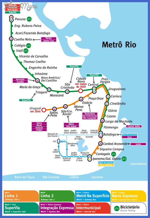mapa metro rio Lima Subway Map
