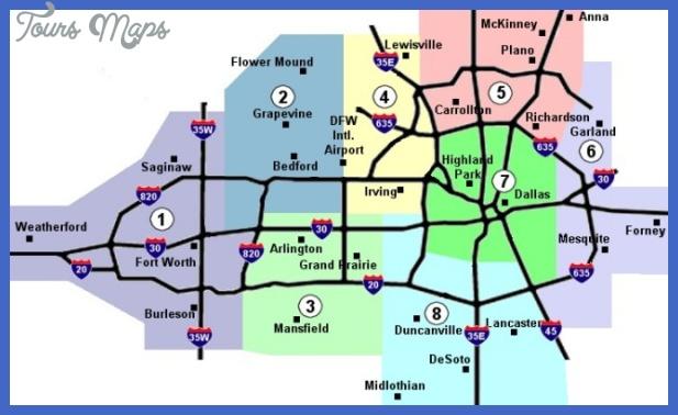 mapcolored2 Dallas Subway Map