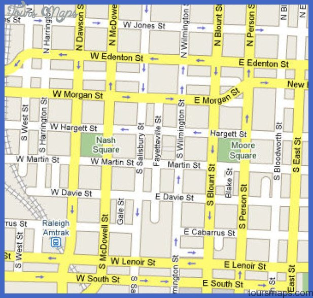 mapdowntown Raleigh Map