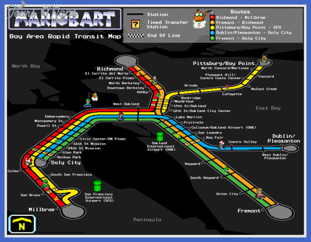 mario bart map sf oakland train 2012 dave delisle davesgeekyideas Oakland Metro Map