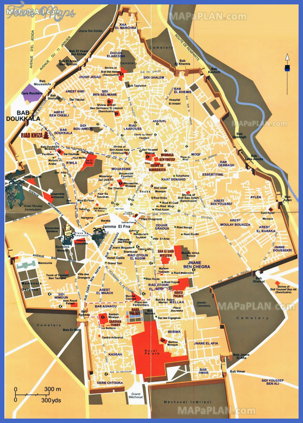 Morocco Map Tourist Attractions ToursMapsCom – Morocco Tourist Map