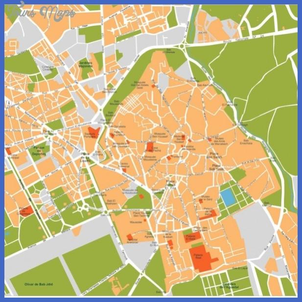 marrakech vector map 600x600 Harare Metro Map