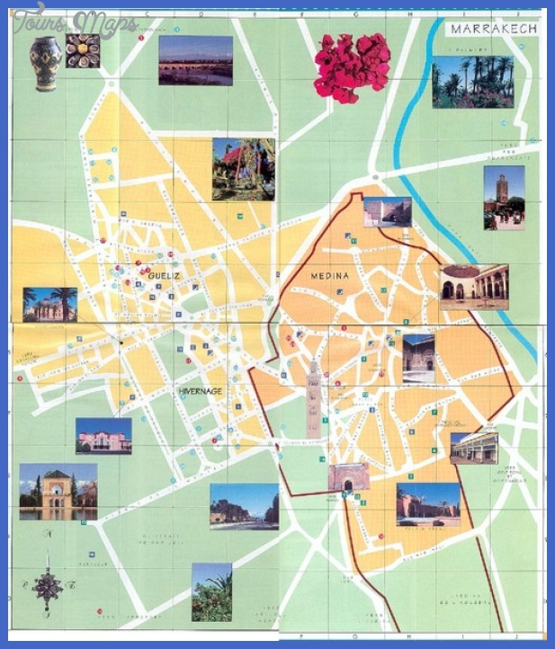 marrakesh tourist map mediumthumb Morocco Map Tourist Attractions