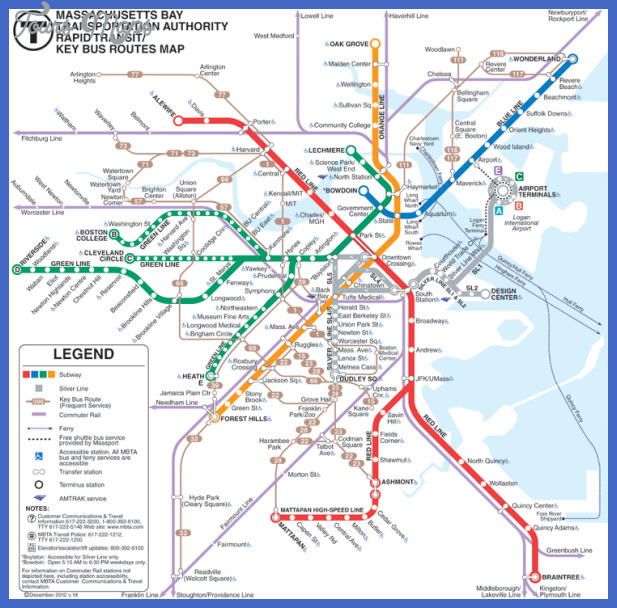 mbta subway Boston Subway Map