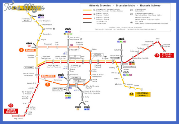 metro 2 Brussels Metro Map