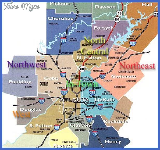 metro atlanta map Atlanta Metro Map