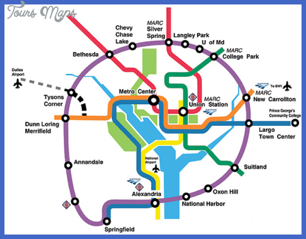 metro map of prince georges Henderson Metro Map