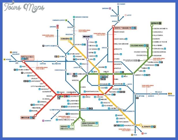 metro milano1 Milan Metro Map