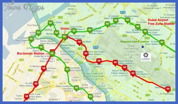 metro map Dubai Metro Map