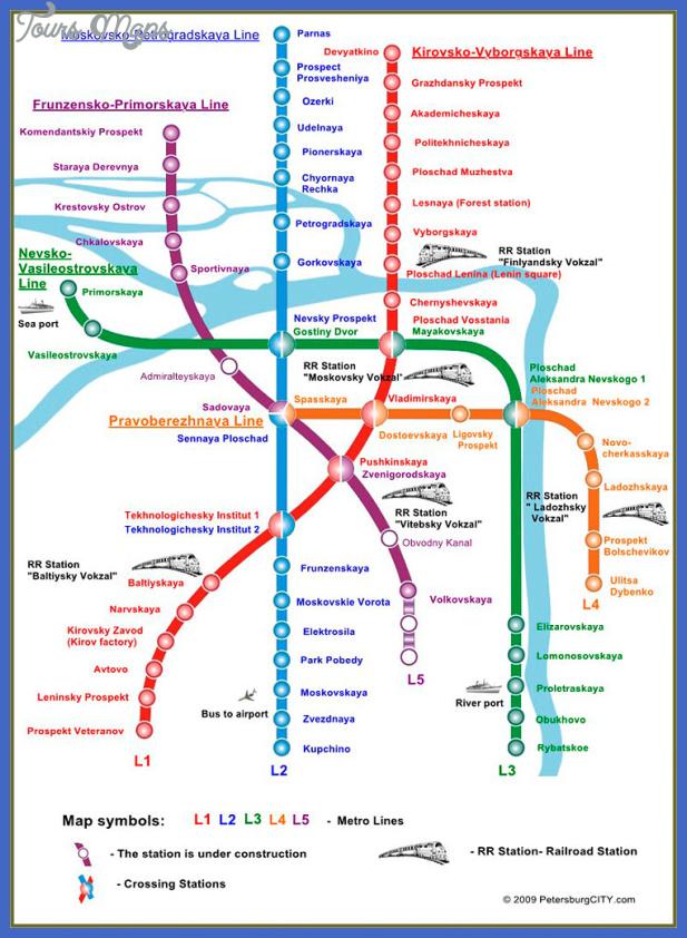 metro map1 St Petersburg Subway Map