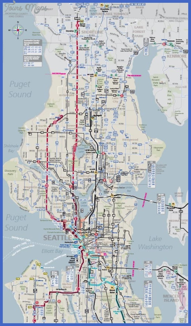 metro system map nw area Seattle Metro Map