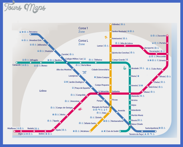 Lisbon Metro Map Toursmaps Com