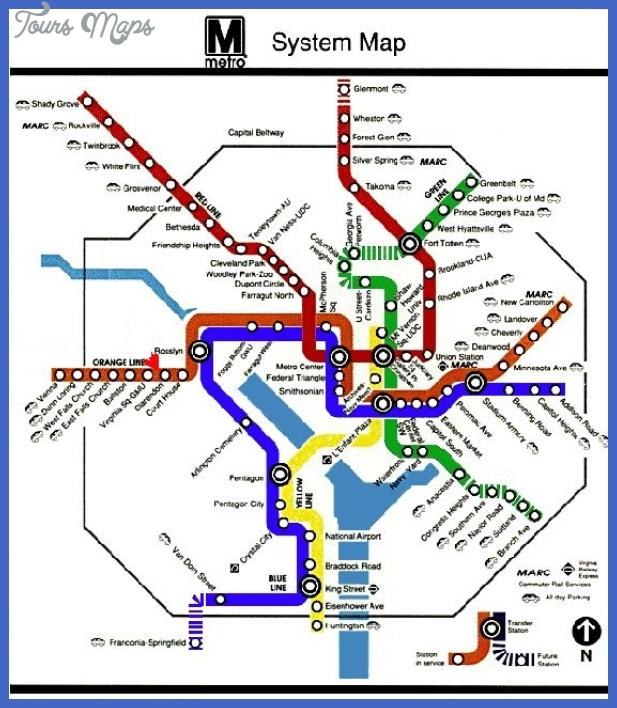 metromap Washington Metro Map