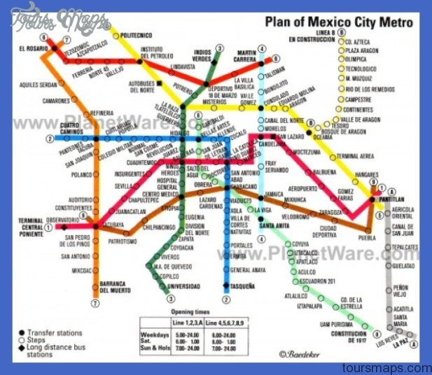 Mexico City Metro Map Toursmaps Com