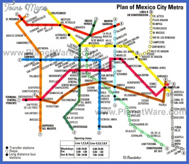 mexico city metro map e1294781761273 Mexico City Metro Map